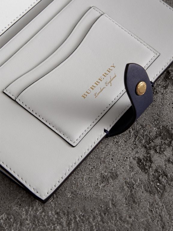 Equestrian Shield Two-tone Leather Continental Wallet in Mid Indigo - Women | Burberry Hong Kong - cell image 1