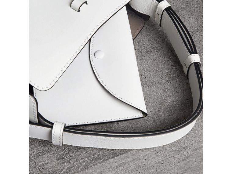The Small Leather Bucket Bag in Chalk White - Women | Burberry - cell image 4