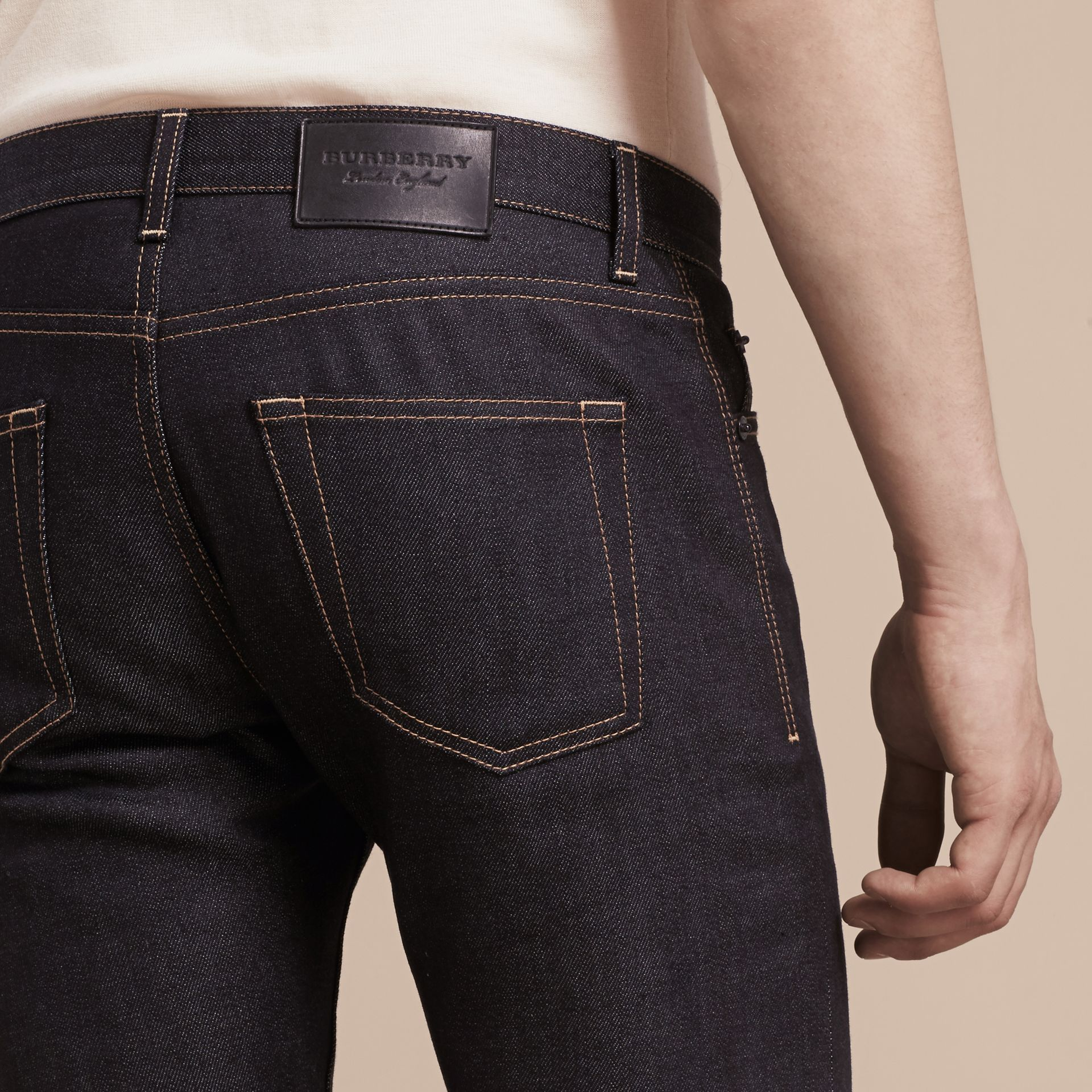 Indigo Slim Fit Japanese Denim Jeans Indigo - gallery image 6