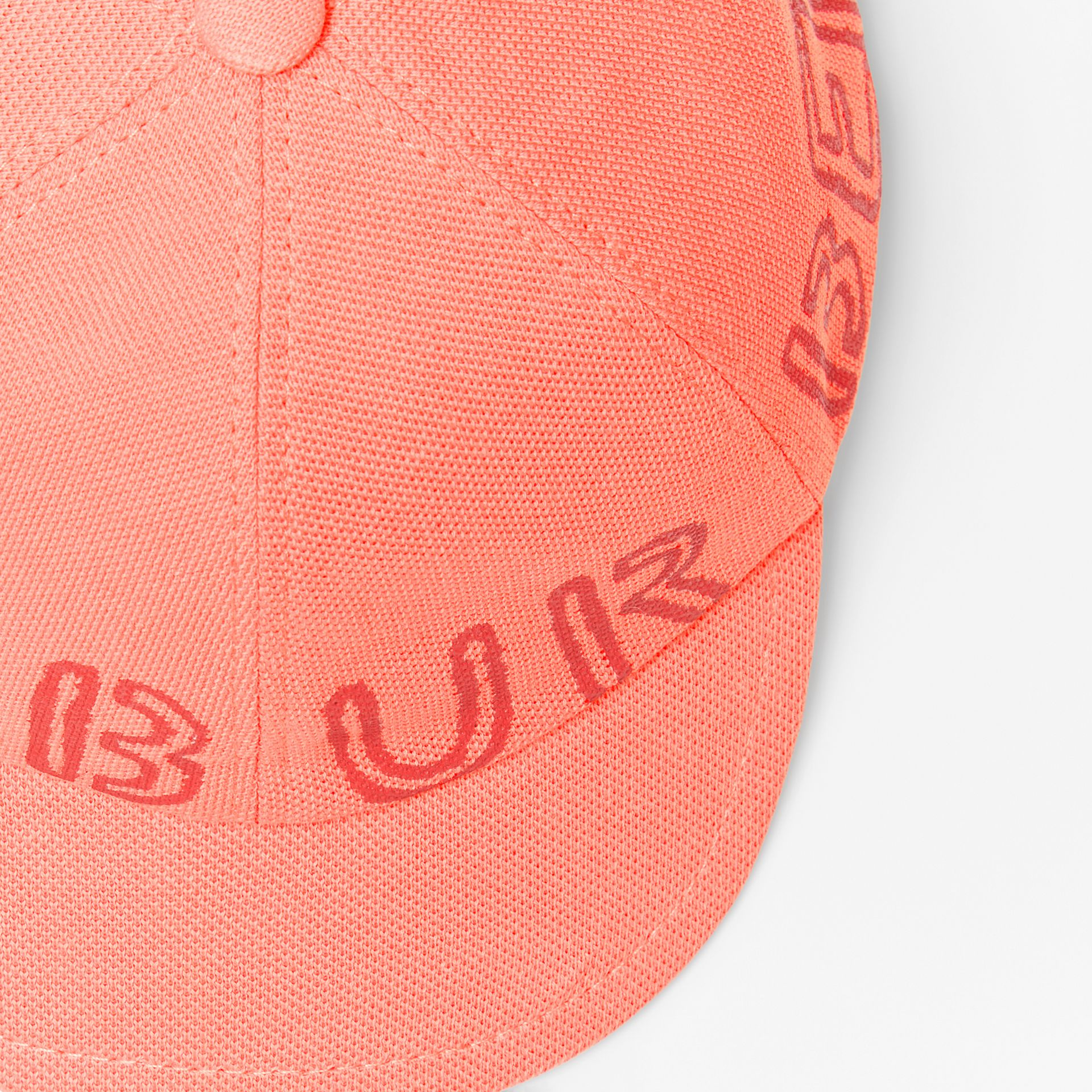 Stencil Logo Print Baseball Cap in Bright Pink/bright Red | Burberry - gallery image 1