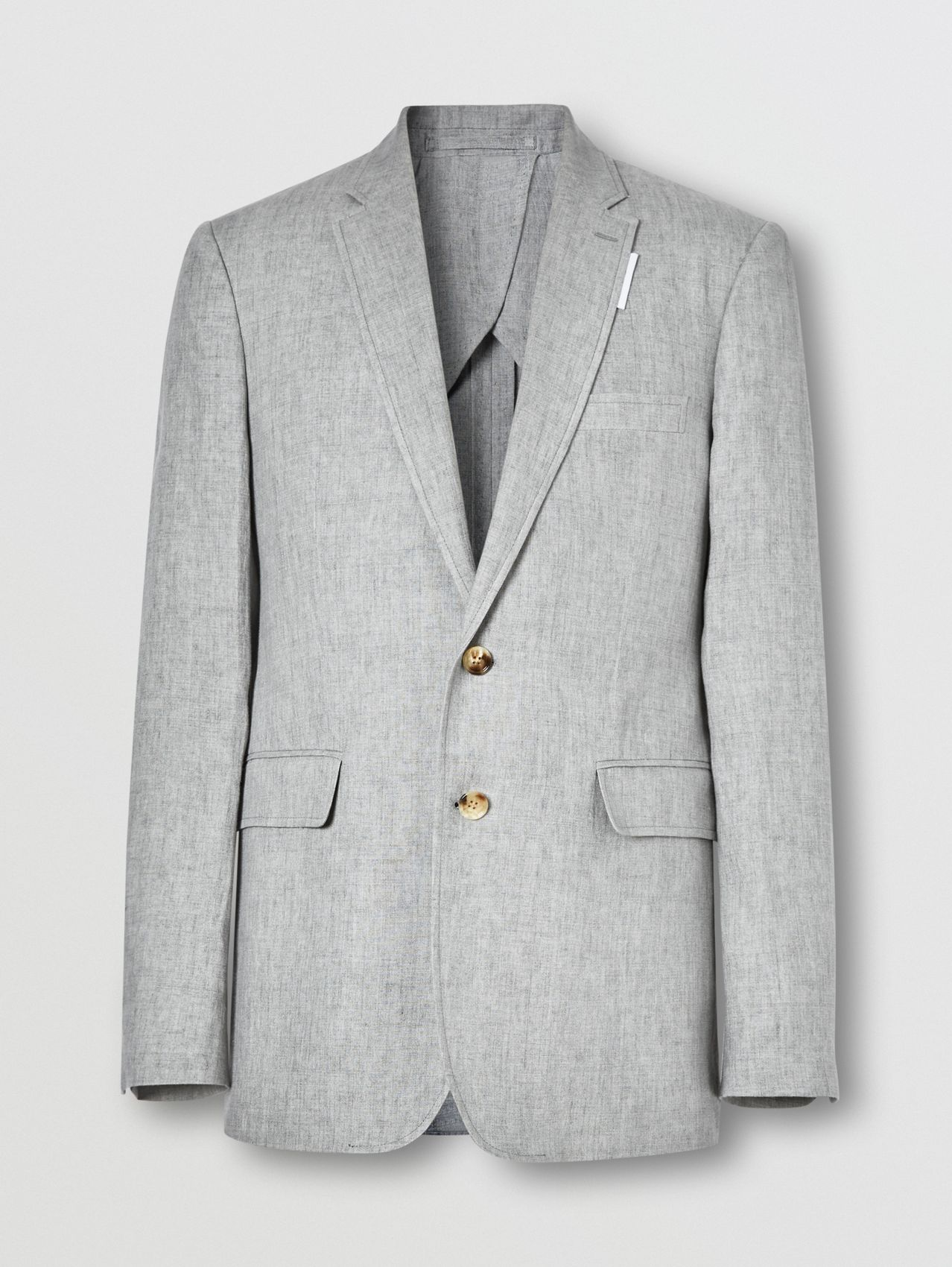 Slim Fit Linen Tailored Jacket in Heather Melange