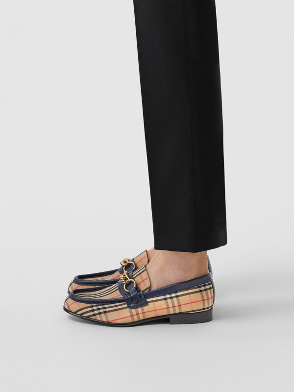 The 1983 Check Link Loafer in Ink Blue - Women | Burberry - cell image 2