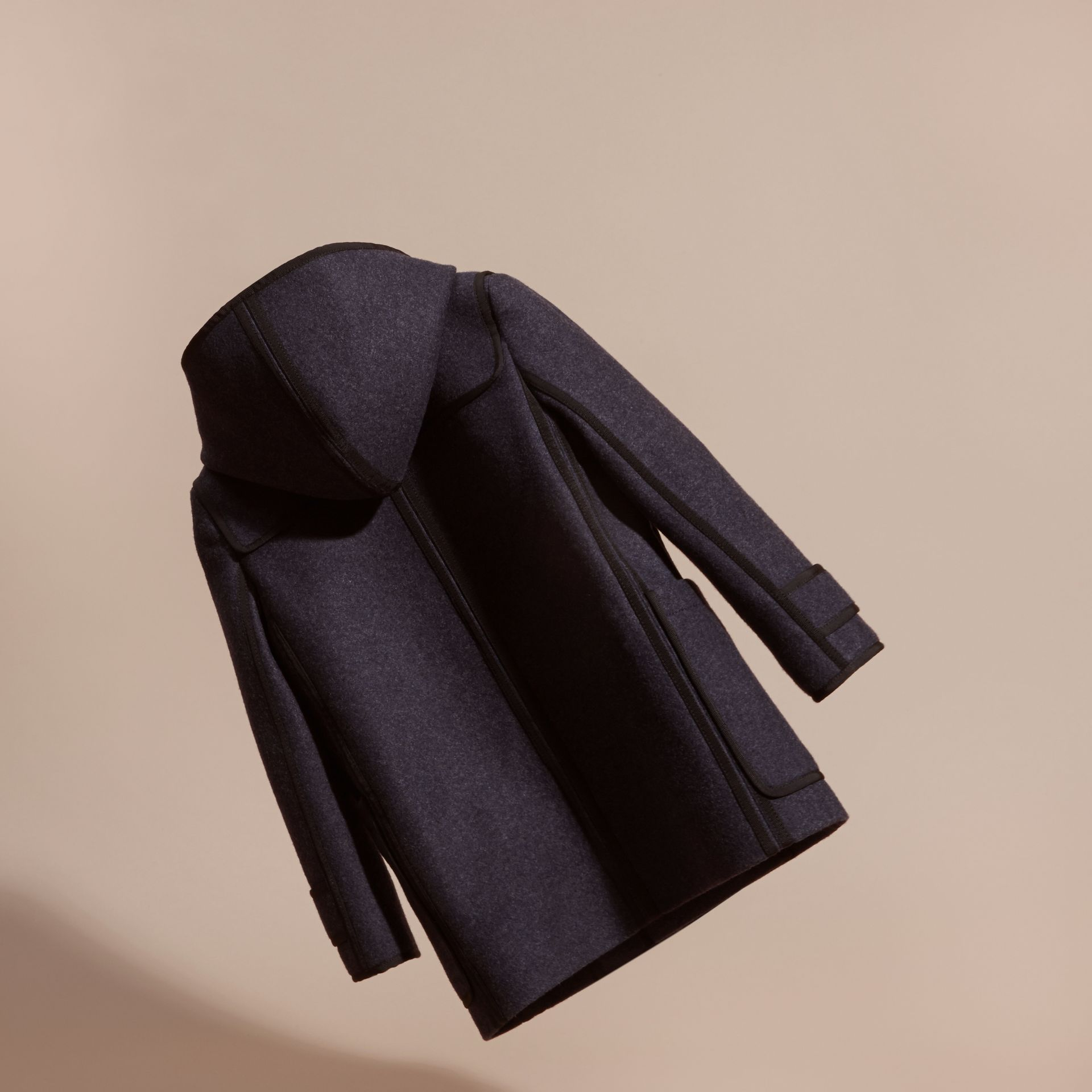 Midnight blue Technical Wool Cashmere Duffle Coat - gallery image 4