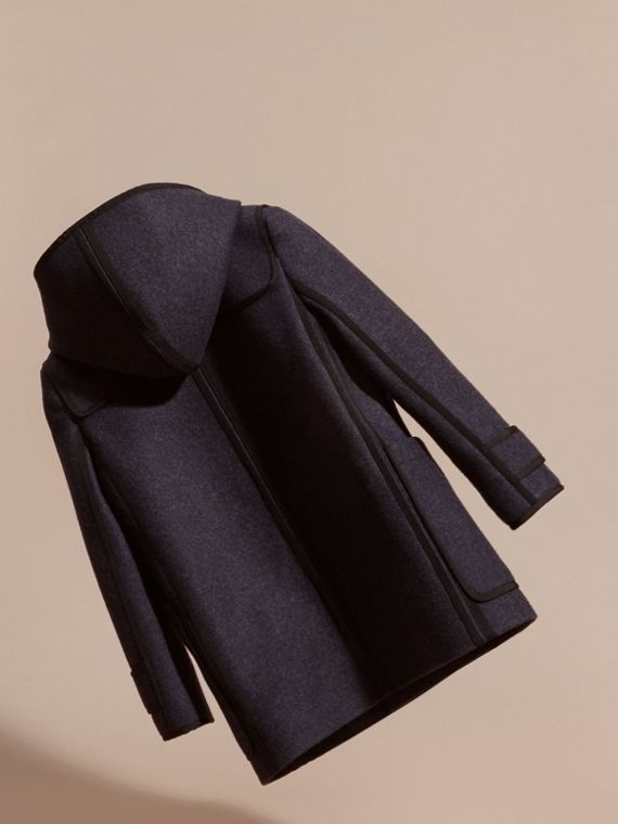Midnight blue Technical Wool Cashmere Duffle Coat - cell image 3