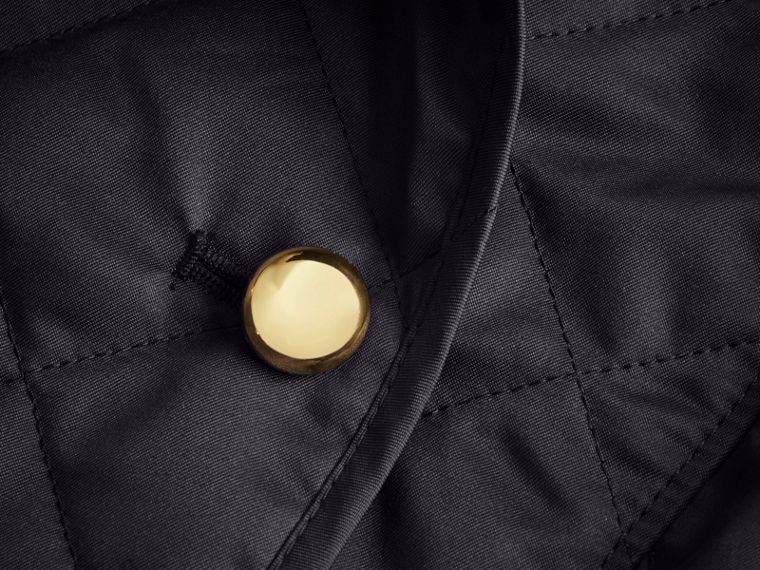 Double-breasted Quilted Military Jacket in Navy - cell image 1
