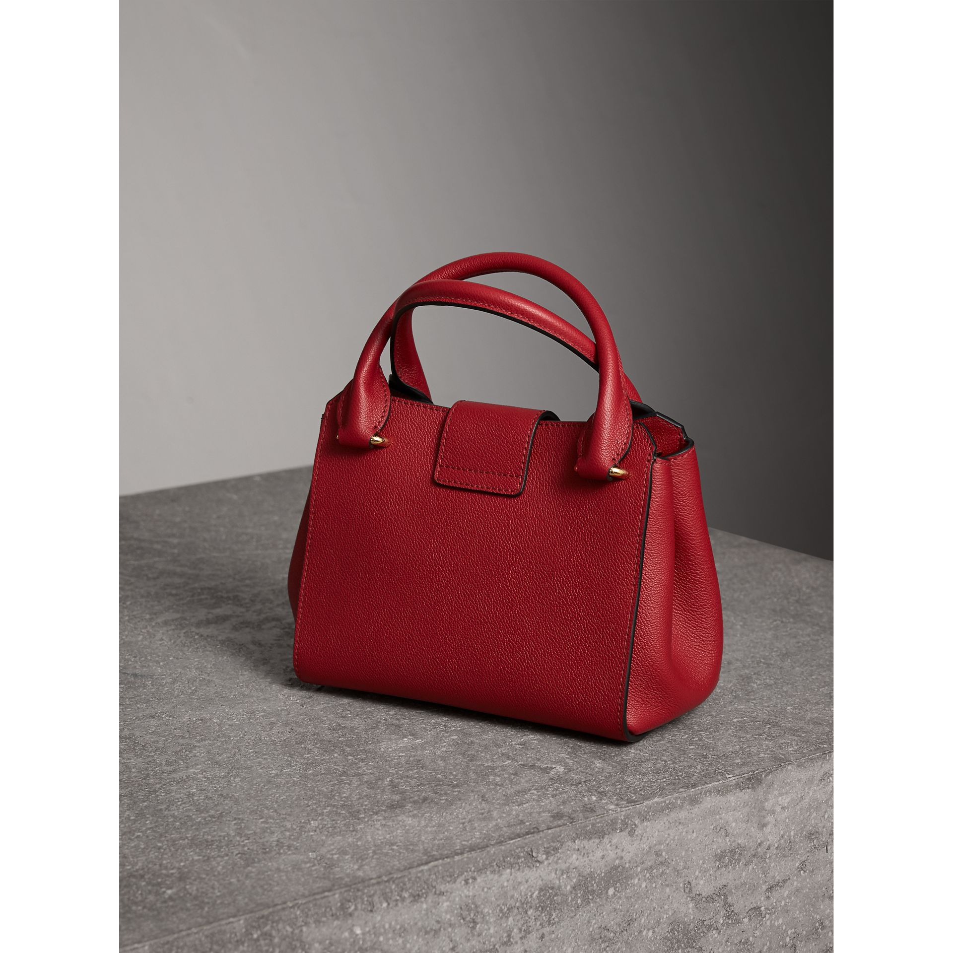 The Small Buckle Tote in Grainy Leather in Parade Red - Women | Burberry - gallery image 4