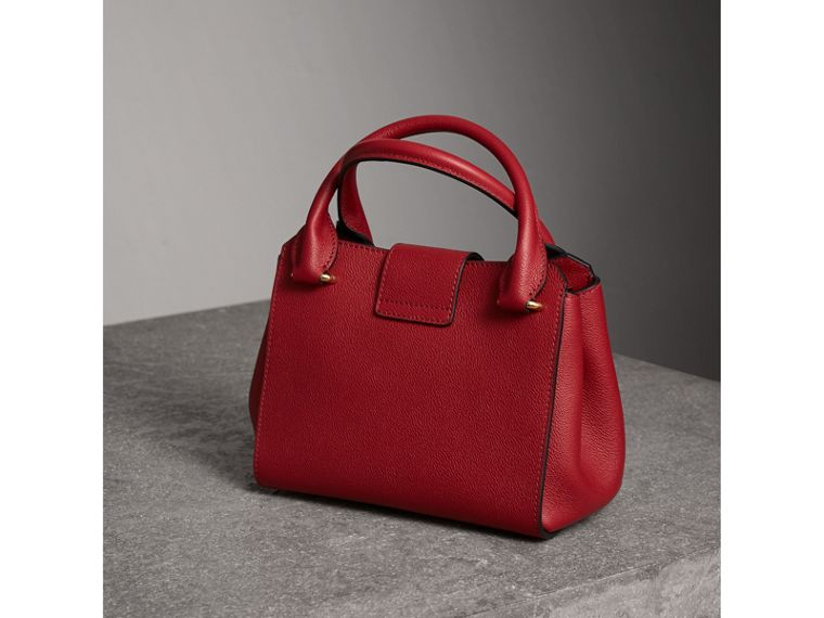 The Small Buckle Tote in Grainy Leather in Parade Red - Women | Burberry United States - cell image 4