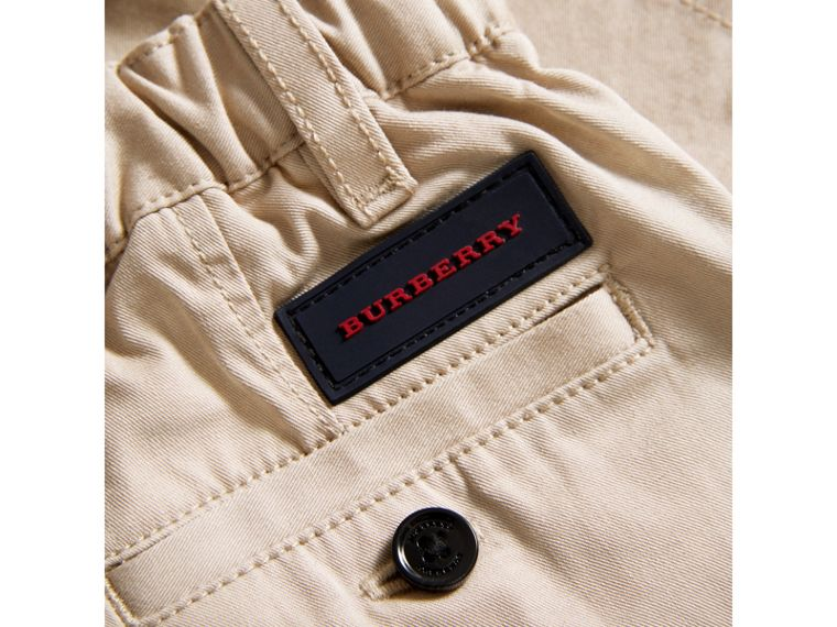 Cotton Twill Chinos in Grey Stone | Burberry Australia - cell image 1