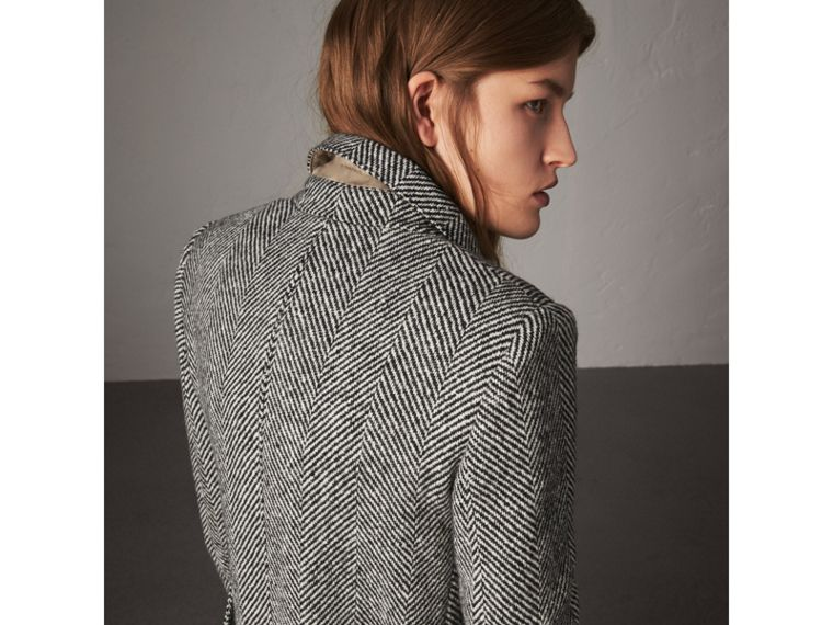 Donegal Herringbone Wool Tweed Tailored Coat - Women | Burberry Australia - cell image 1