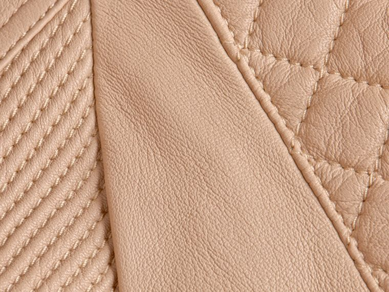 Honey Fitted Lambskin Biker Jacket - cell image 1