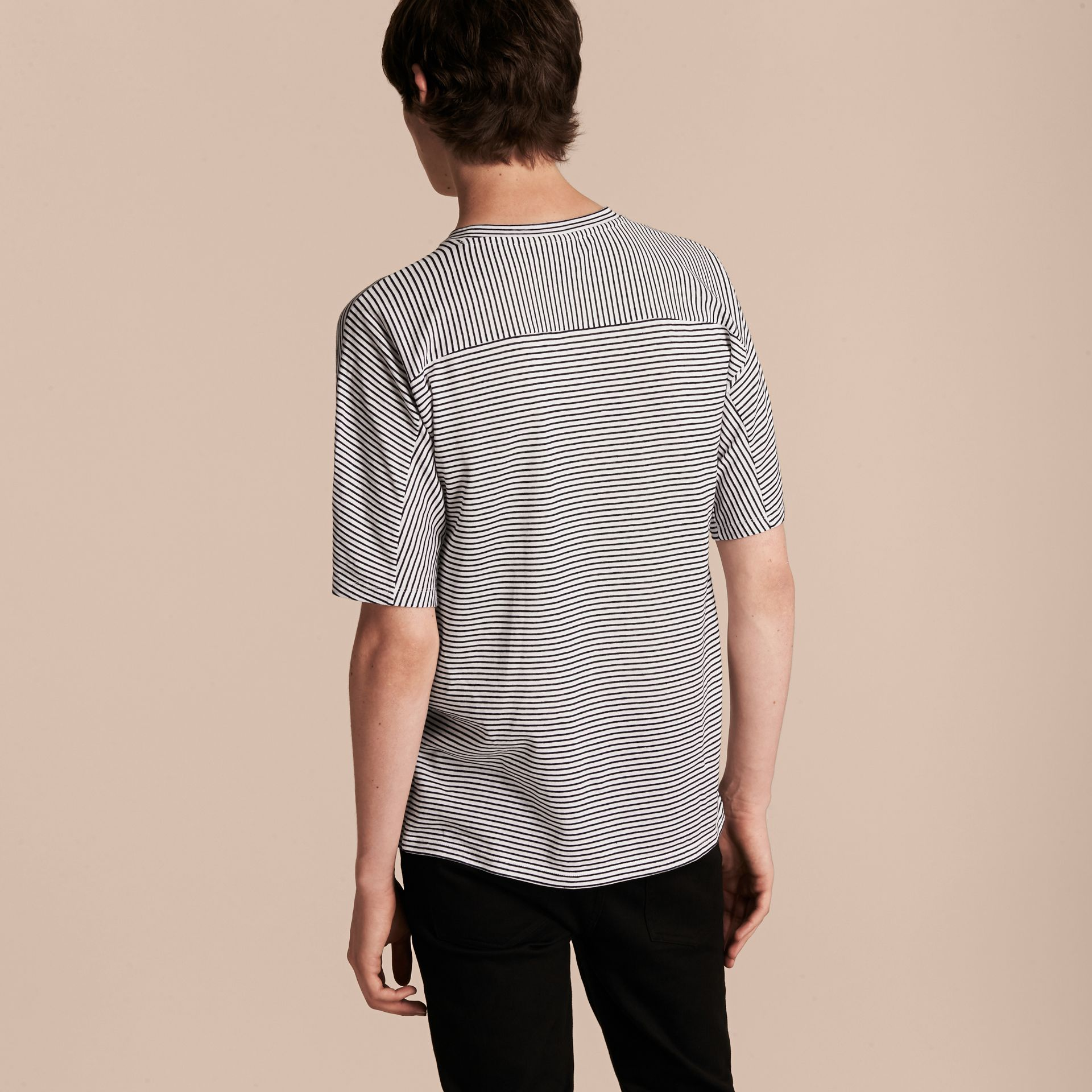 Striped Cotton Linen T-shirt - gallery image 3