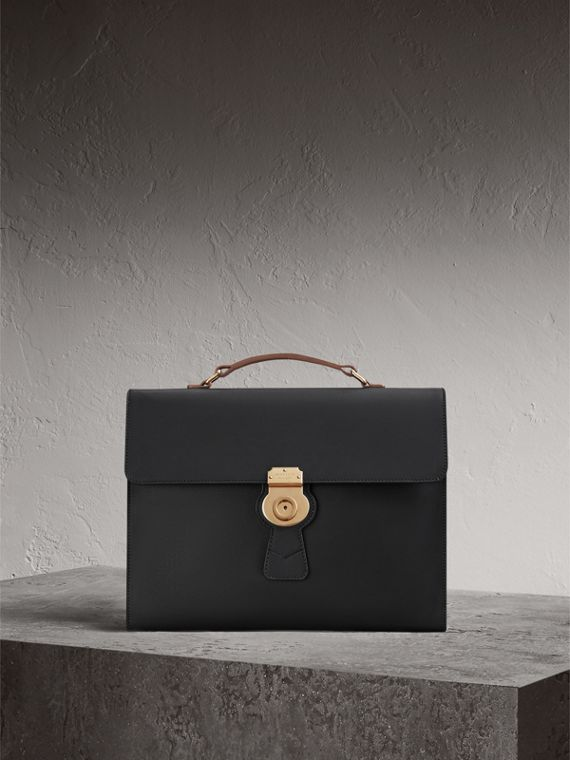The Large DK88 Document Case in Black - Men | Burberry Singapore