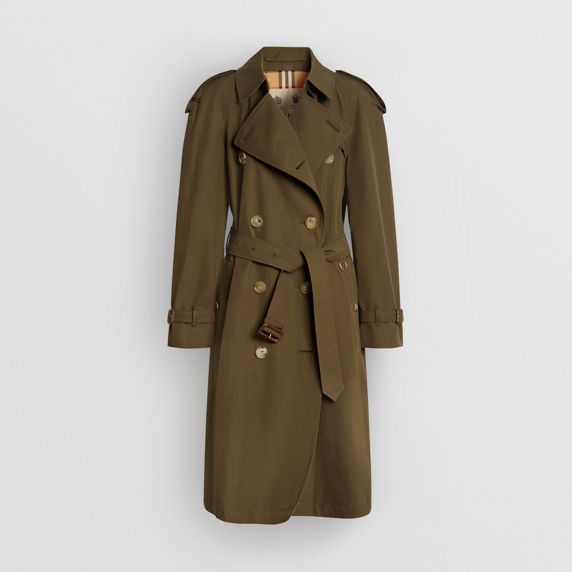 The Westminster Heritage Trench Coat in Dark Military Khaki - Women | Burberry United Kingdom - gallery image 3
