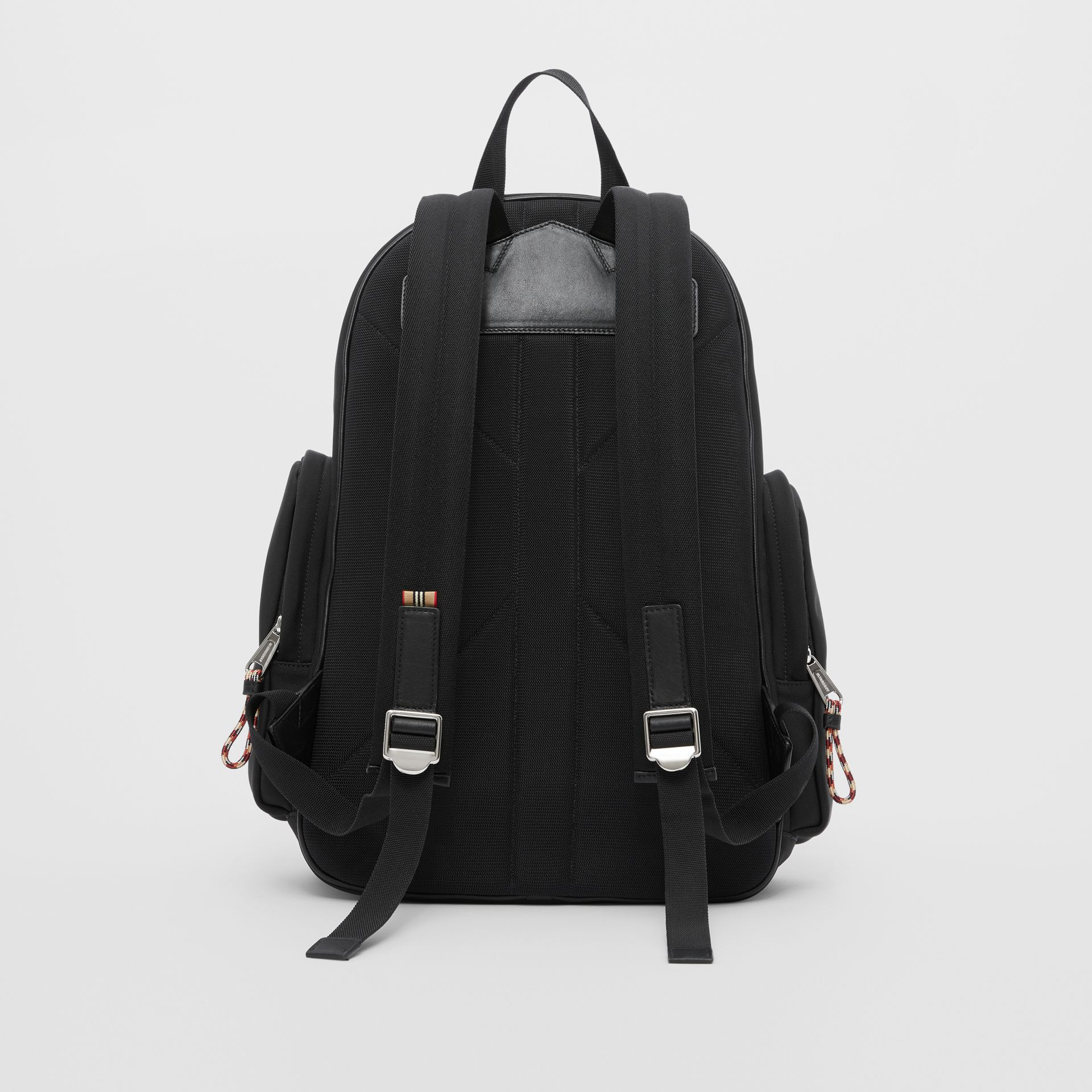 Large Logo and Kingdom Detail Nevis Backpack in Black/white | Burberry Hong Kong S.A.R - gallery image 9