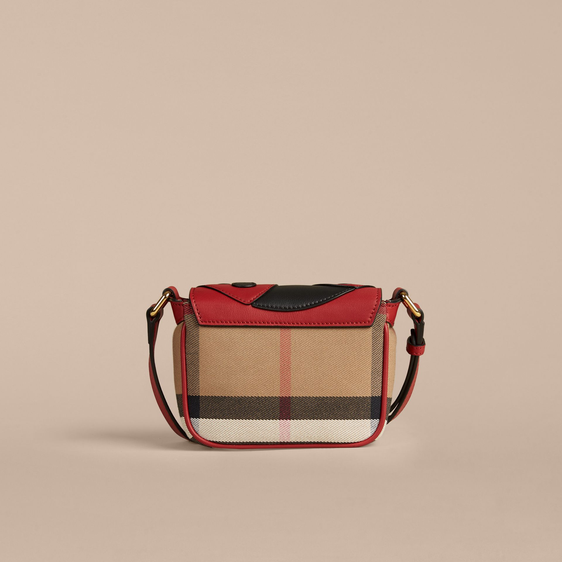 Parade red Ladybird Canvas Check and Leather Crossbody Bag - gallery image 3