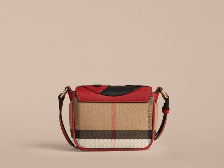 Parade red Ladybird Canvas Check and Leather Crossbody Bag - cell image 2