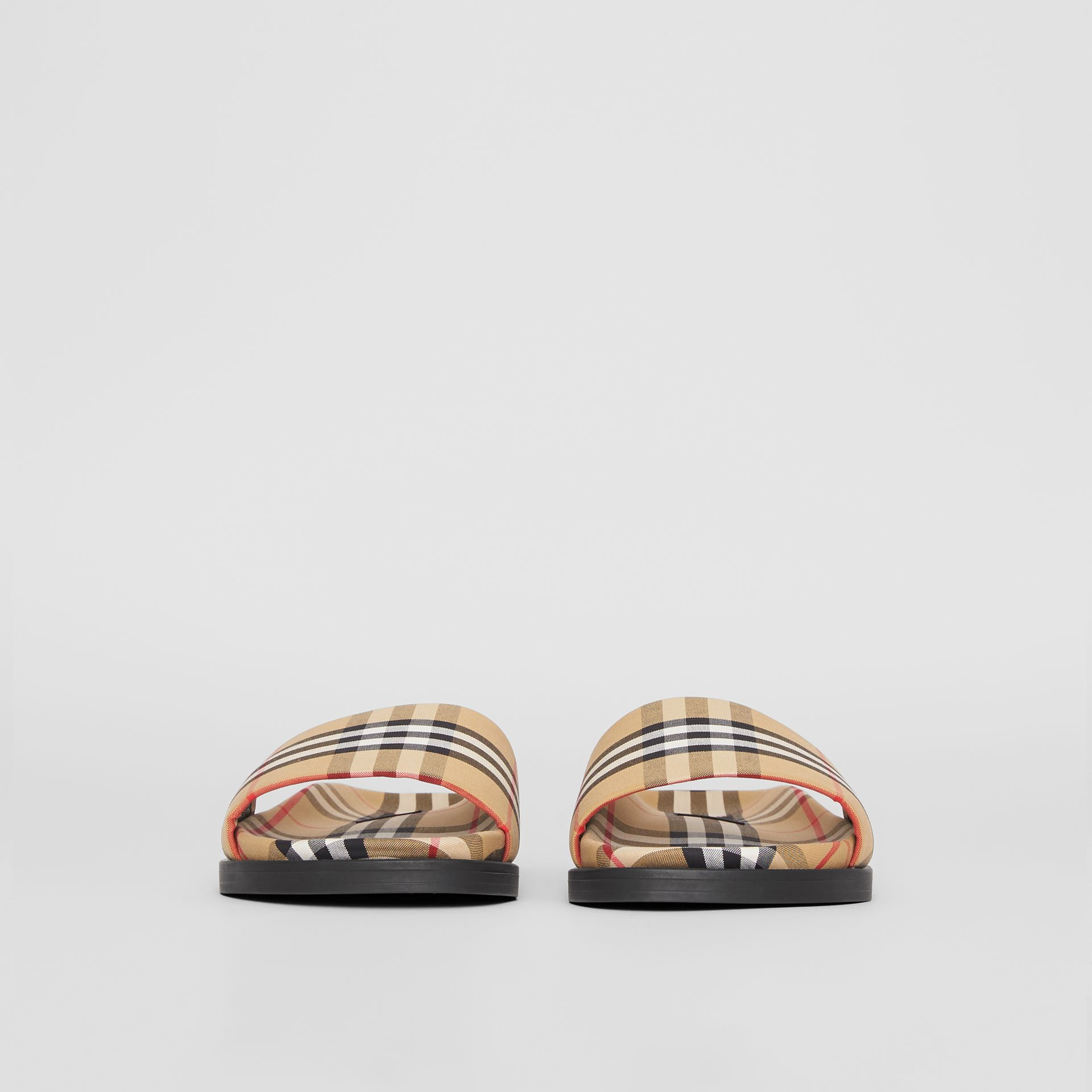 Vintage Check Slides in Antique Yellow | Burberry United Kingdom - gallery image 3