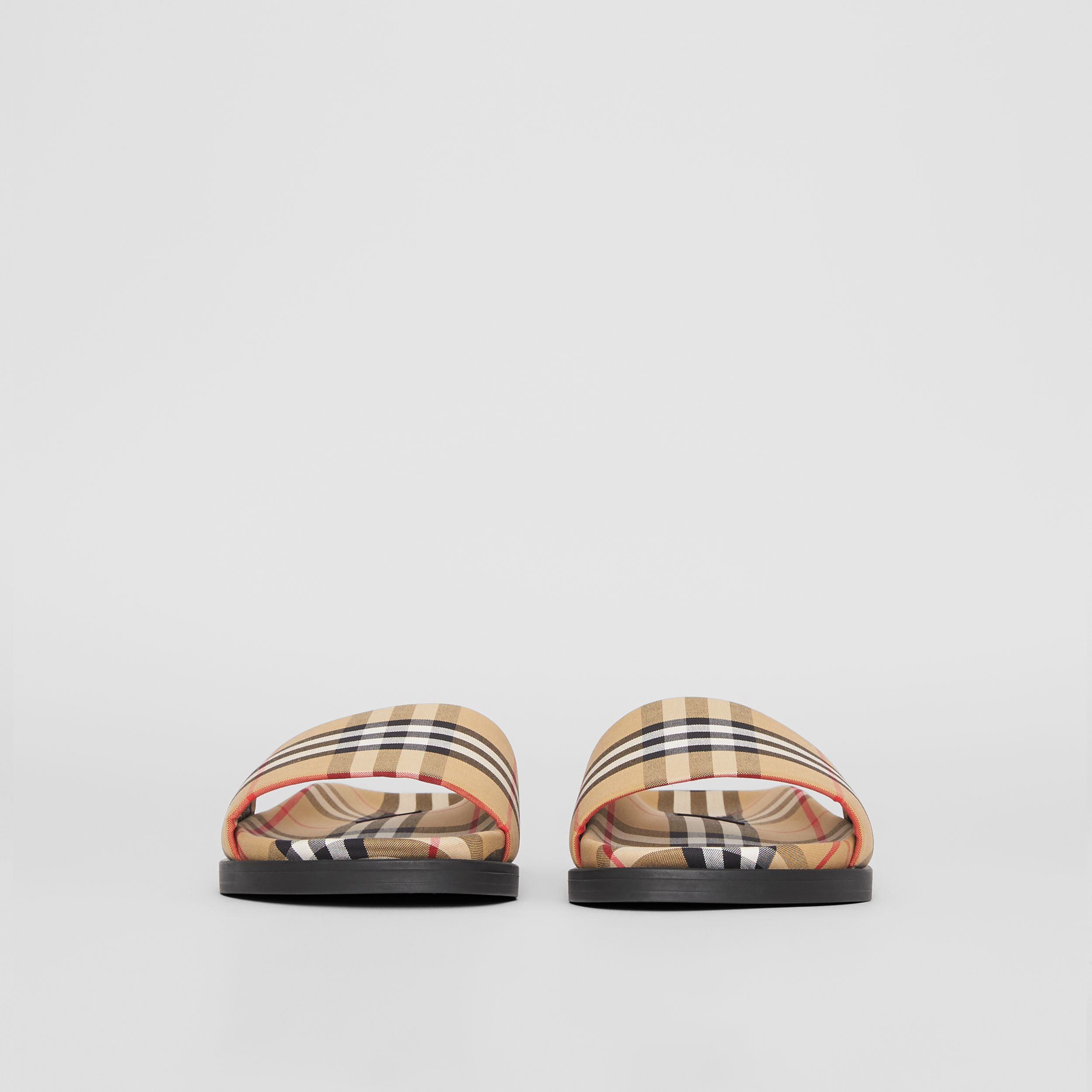 Vintage Check Slides in Antique Yellow - Men | Burberry - 4