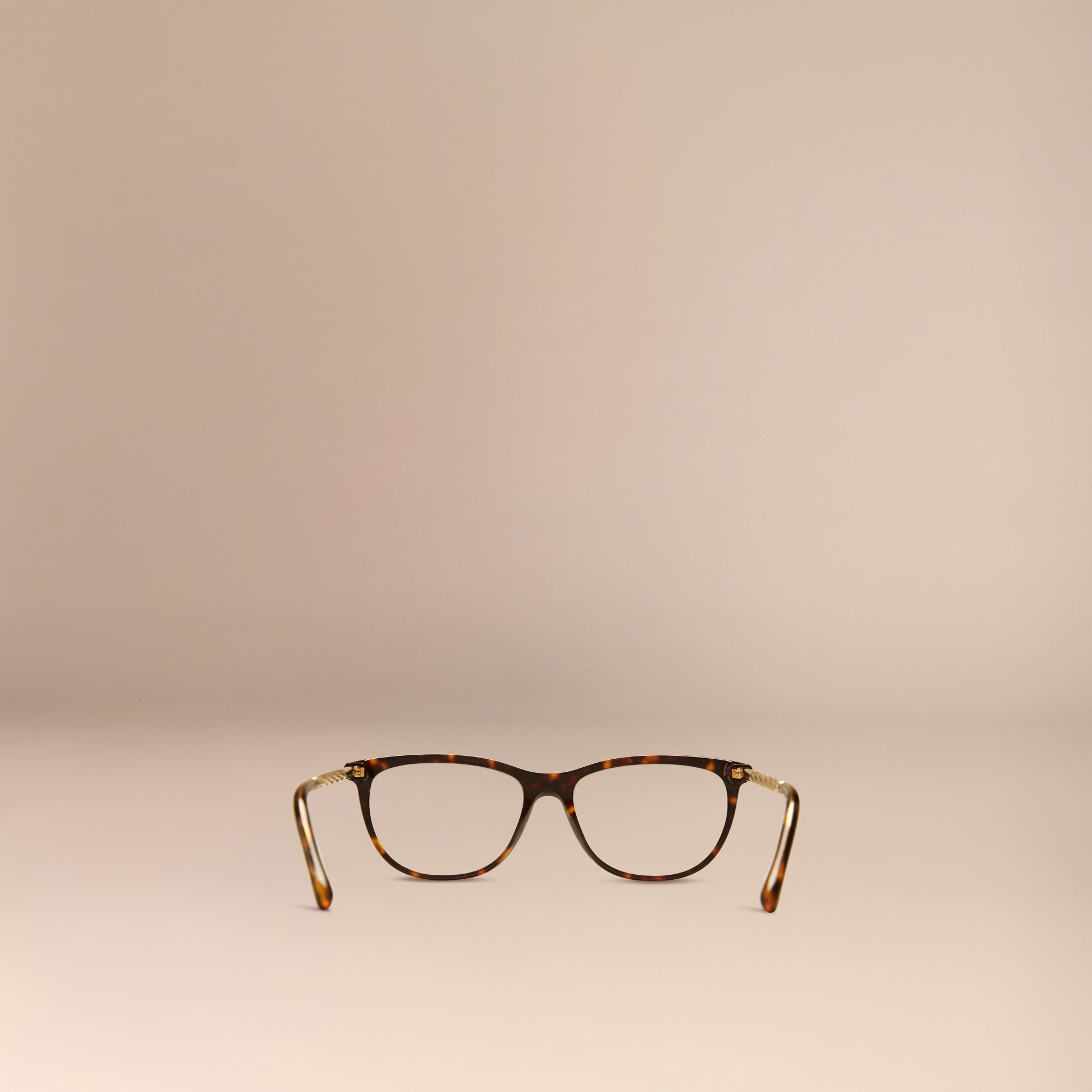Tortoise shell Gabardine Collection Cat-Eye Optical Frames Tortoise Shell - gallery image 3