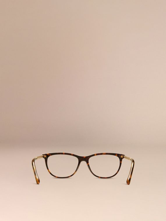 Gabardine Collection Cat-Eye Optical Frames in Tortoise Shell - cell image 2