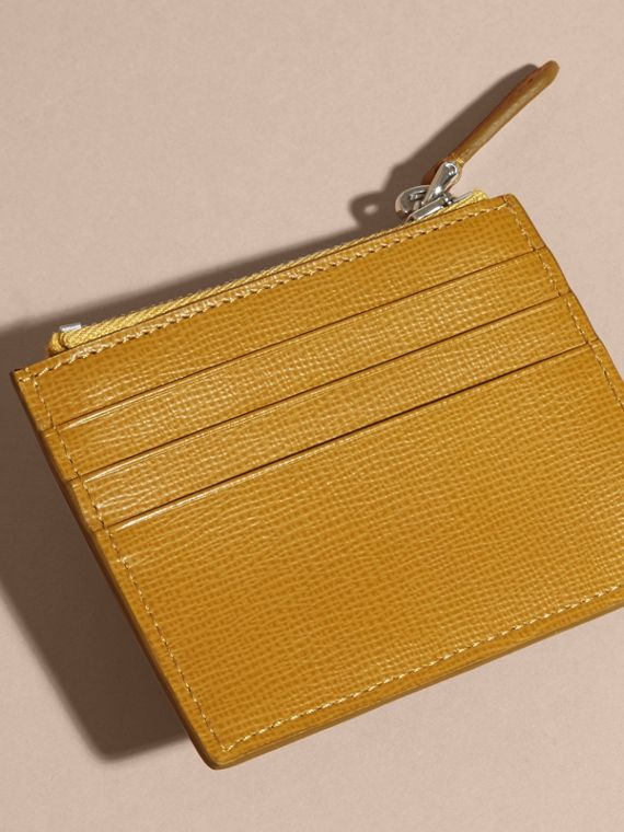 Larch yellow London Leather Zip-top Card Case Larch Yellow - cell image 3