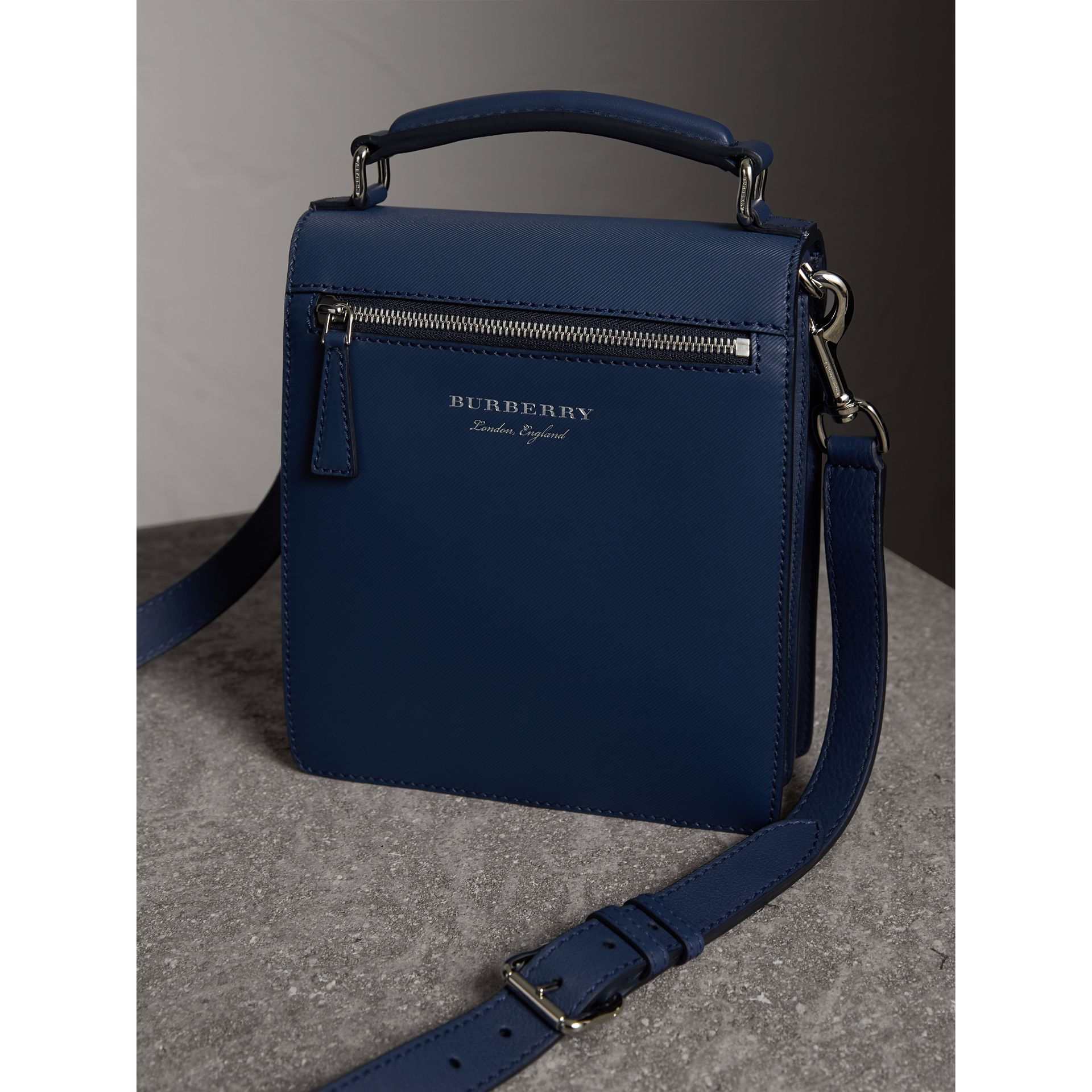 The Small DK88 Satchel in Ink Blue - Men | Burberry United Kingdom - gallery image 4