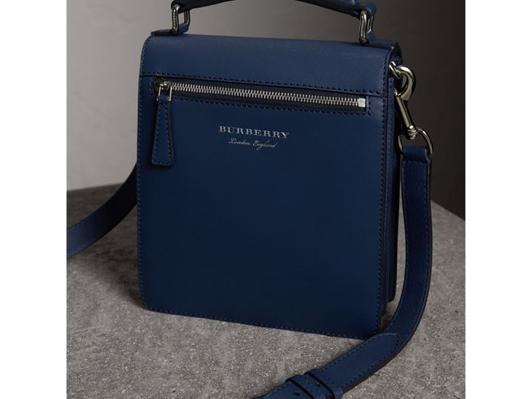 The Small DK88 Satchel in Ink Blue - Men | Burberry - cell image 4