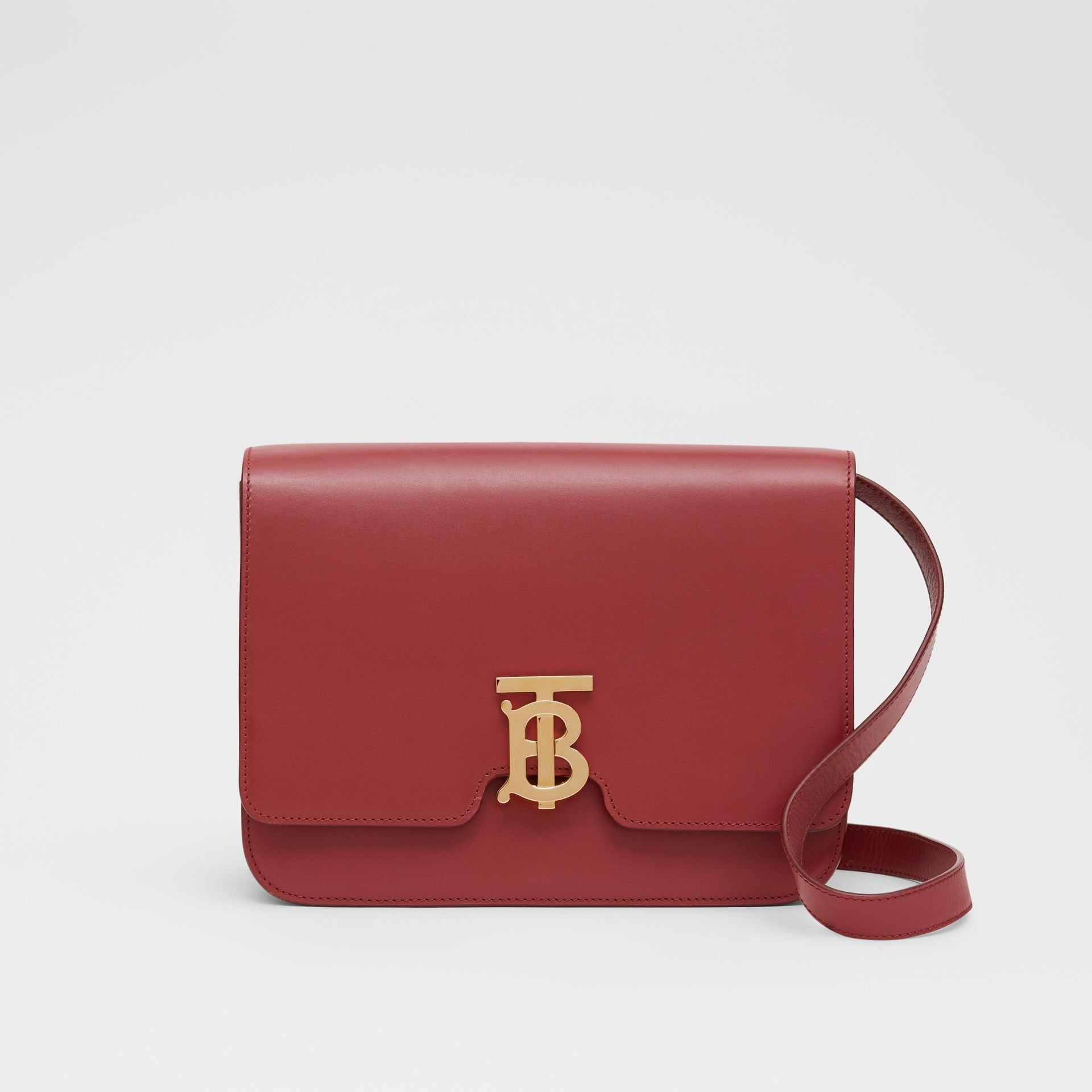 Medium Leather TB Bag in Crimson - Women | Burberry - gallery image 0