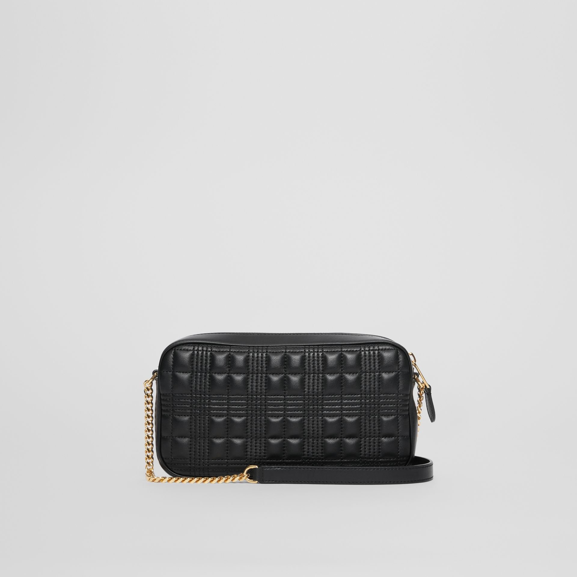 Quilted Lambskin Camera Bag in Black - Women | Burberry - gallery image 7