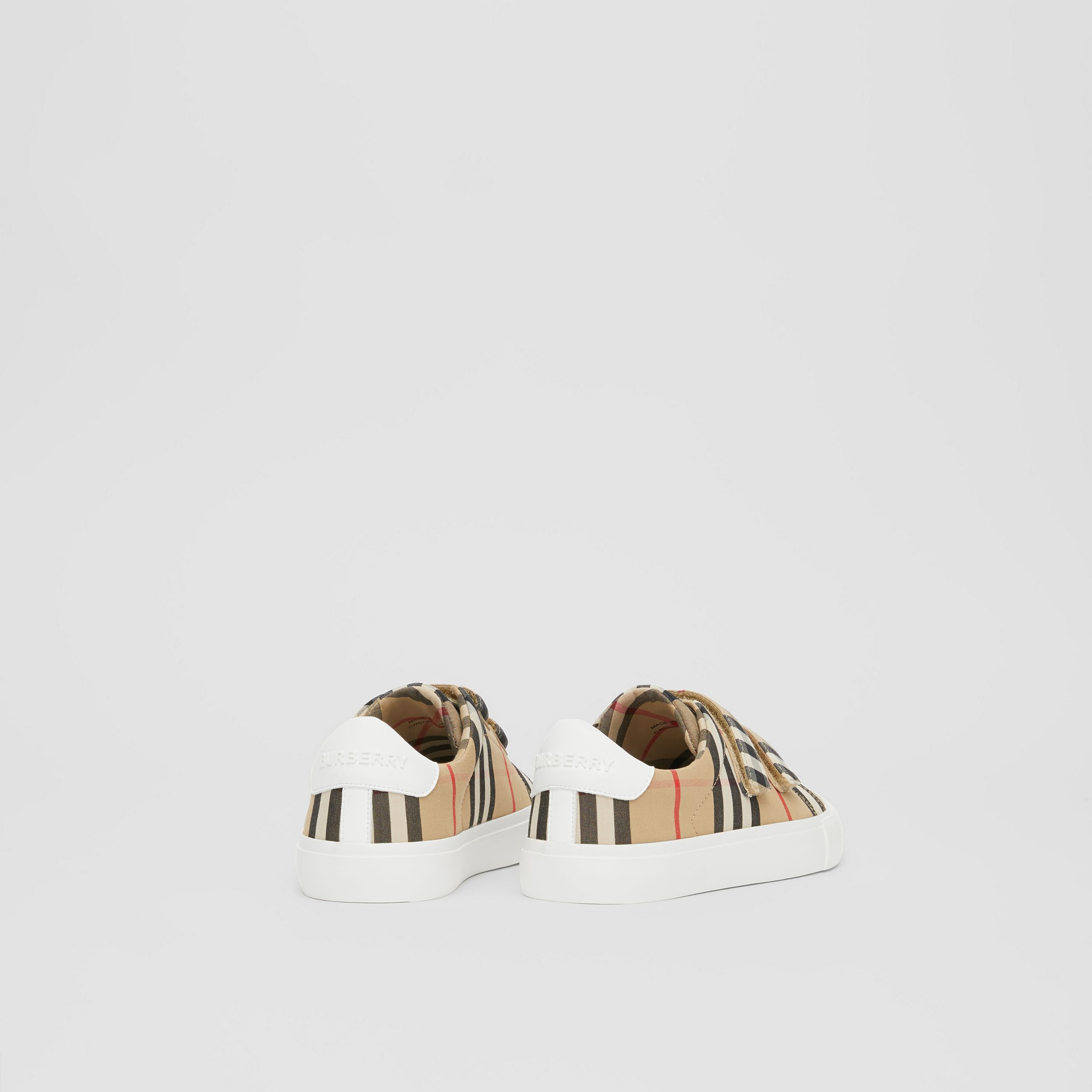 Vintage Check Cotton Sneakers in Archive Beige - Children | Burberry United Kingdom - 3