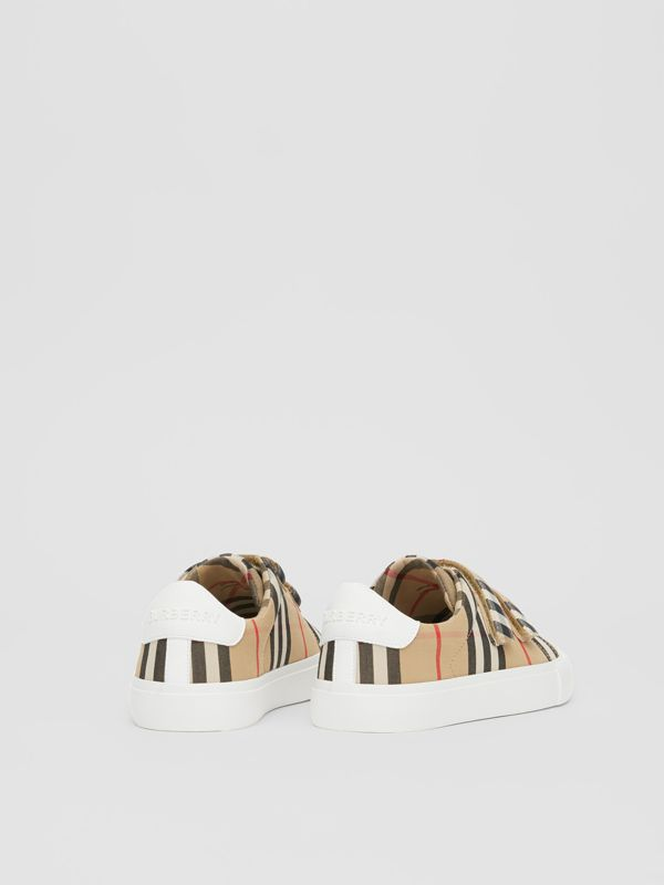 Vintage Check Cotton Sneakers in Archive Beige - Children | Burberry - cell image 2