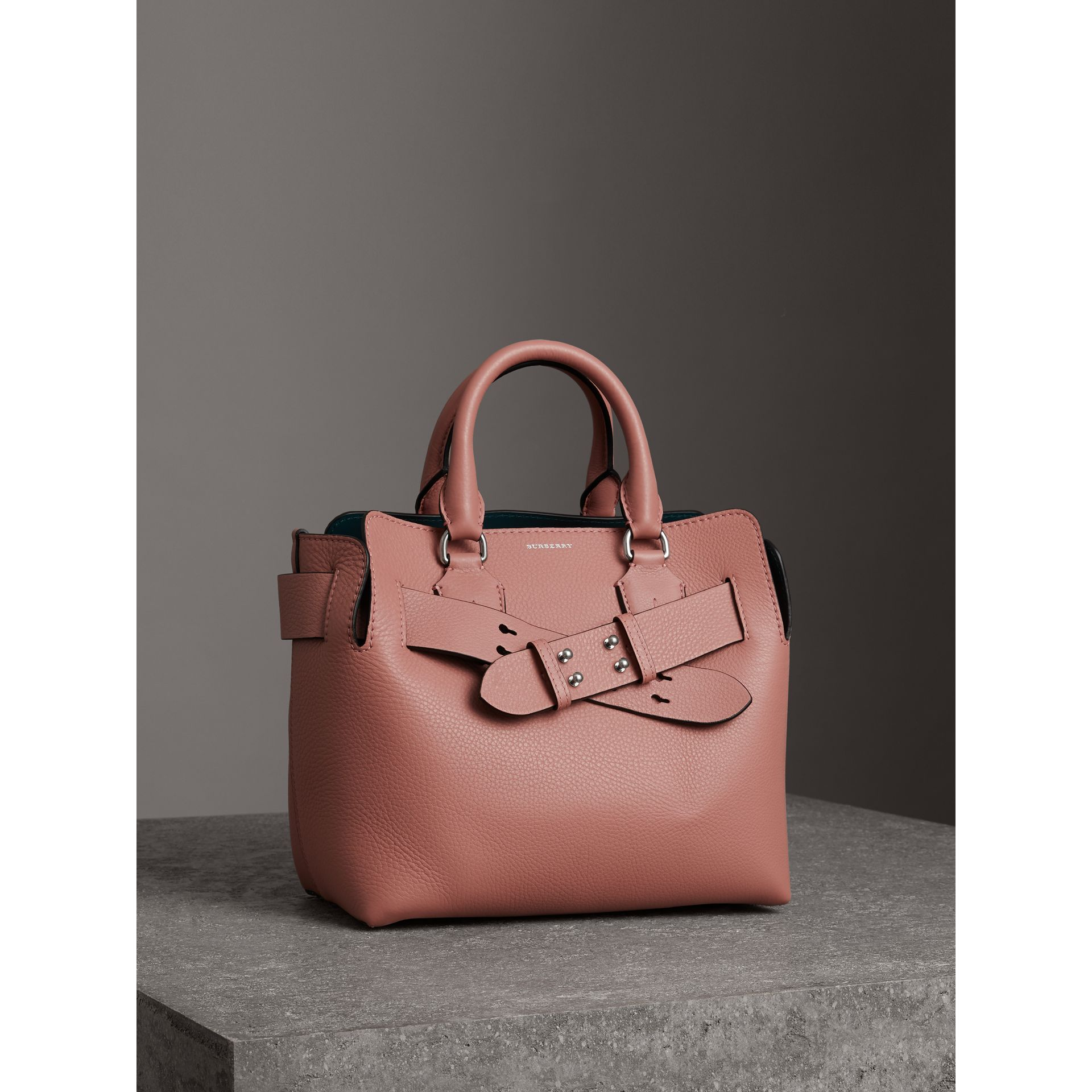 The Small Leather Belt Bag in Dusty Rose - Women | Burberry - gallery image 4