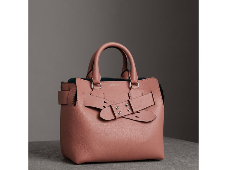 The Small Leather Belt Bag in Dusty Rose - Women | Burberry - cell image 4