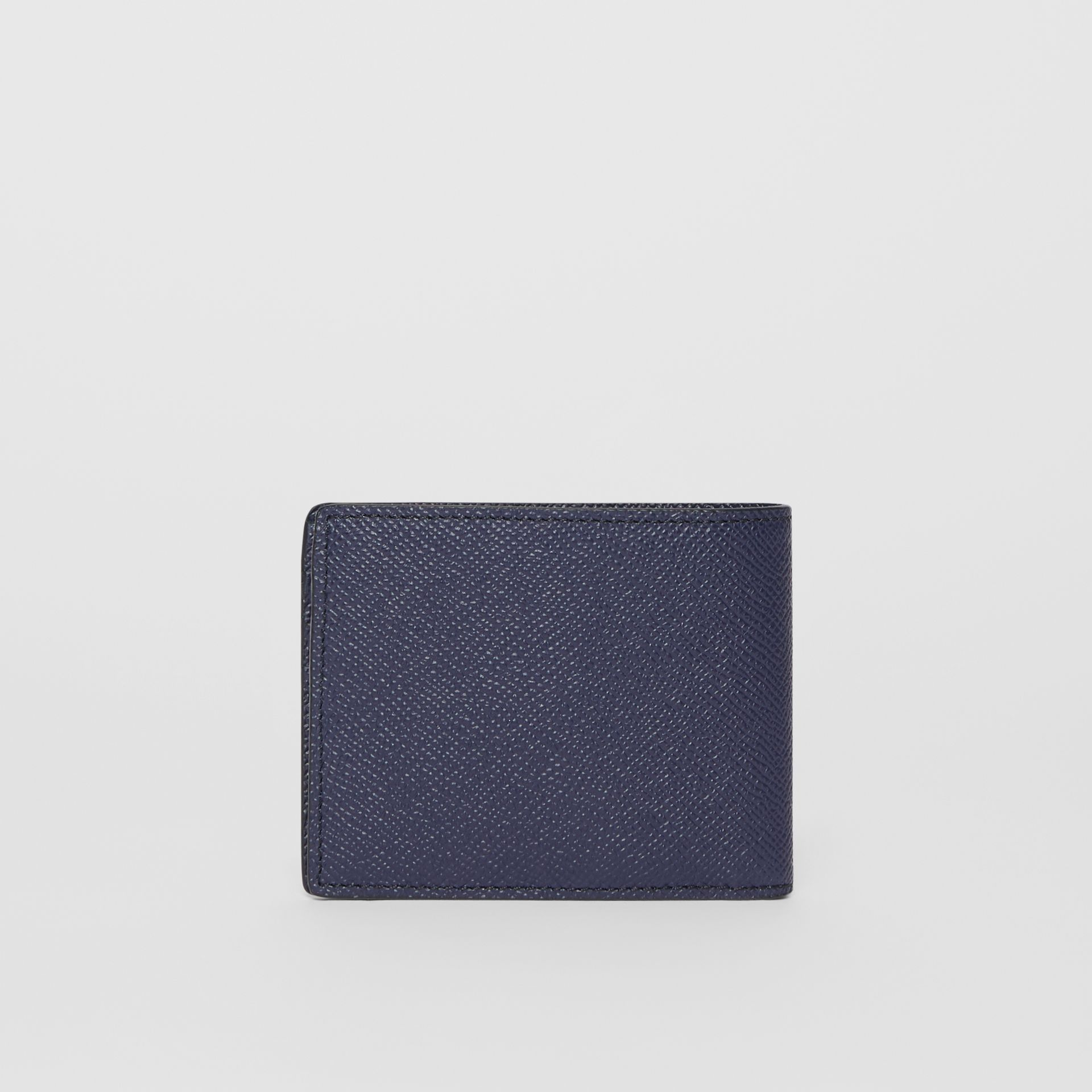 Grainy Leather Bifold Wallet in Regency Blue - Men | Burberry United States - gallery image 3