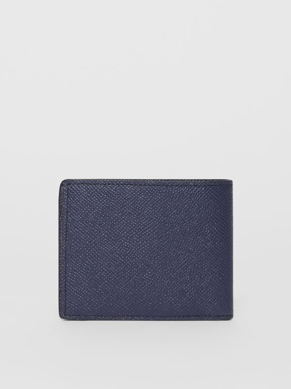 Grainy Leather Bifold Wallet in Regency Blue - Men | Burberry United States - cell image 3