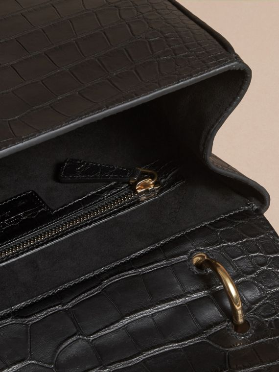 The Medium DK88 Top Handle Bag in Alligator in Black - Women | Burberry United Kingdom - cell image 3