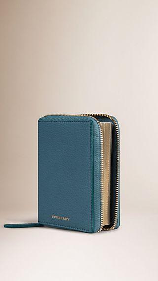 Ziparound Grainy Leather Mini Notebook