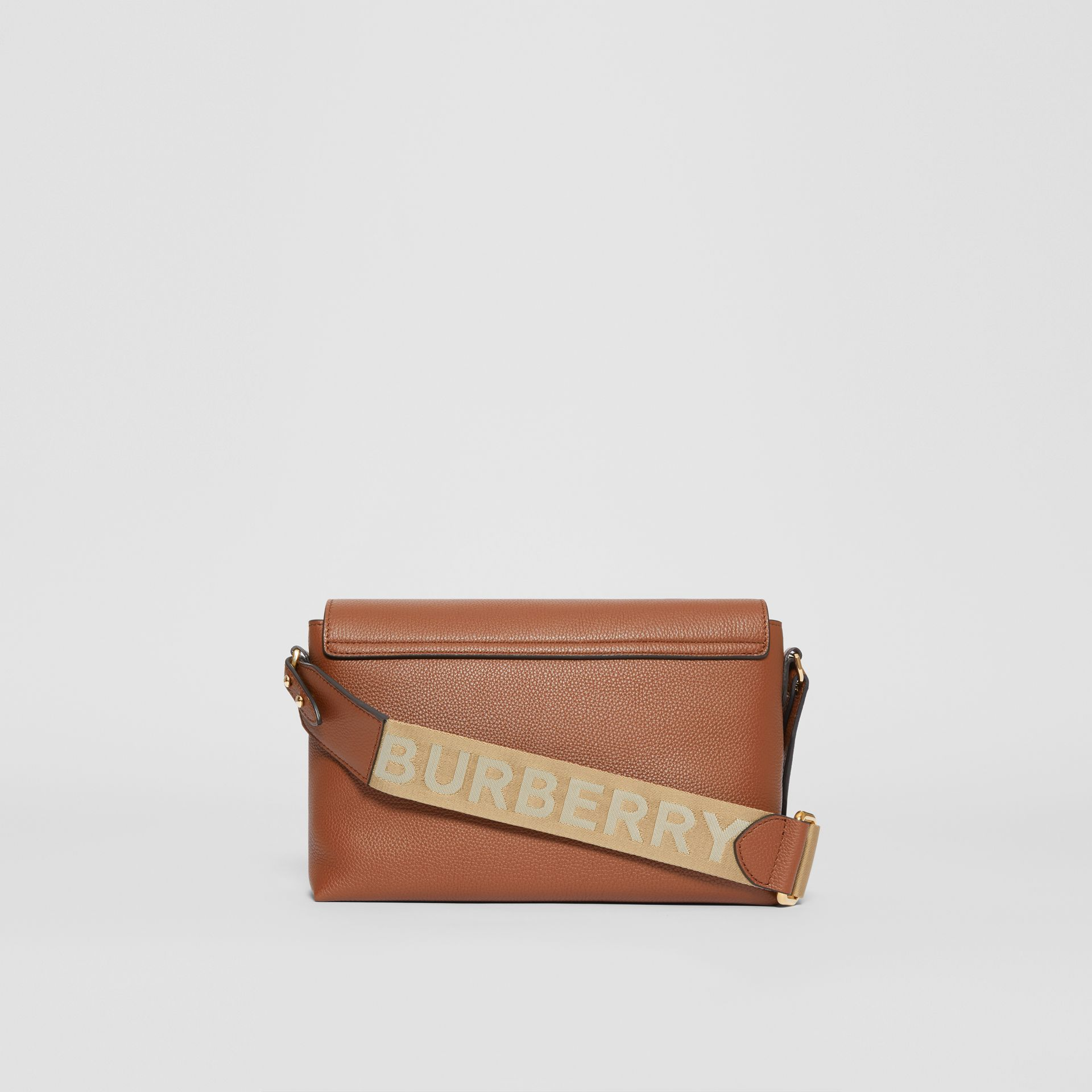 Leather and Vintage Check Note Crossbody Bag in Tan - Women | Burberry United Kingdom - gallery image 7