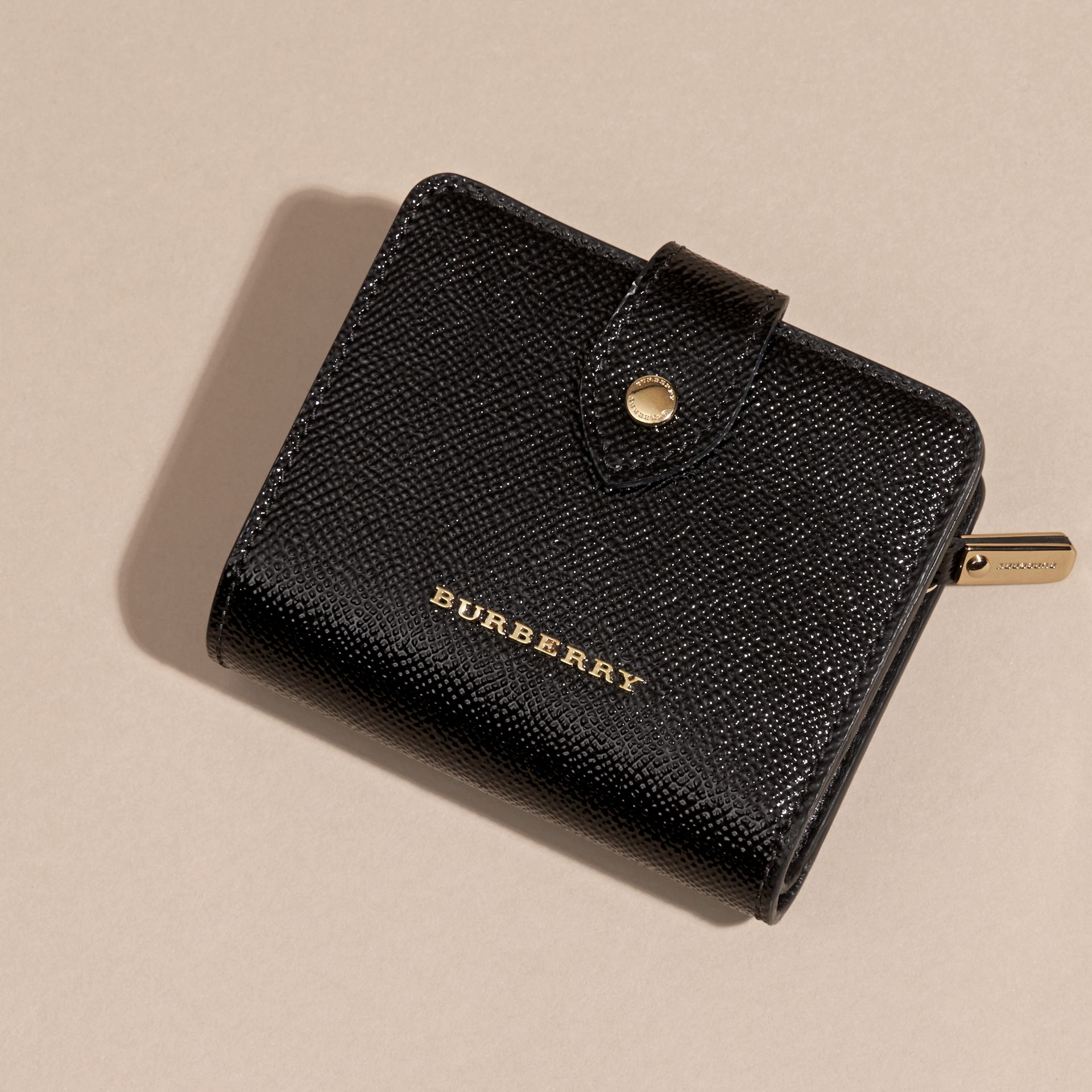 Black Patent London Leather Wallet Black - gallery image 3
