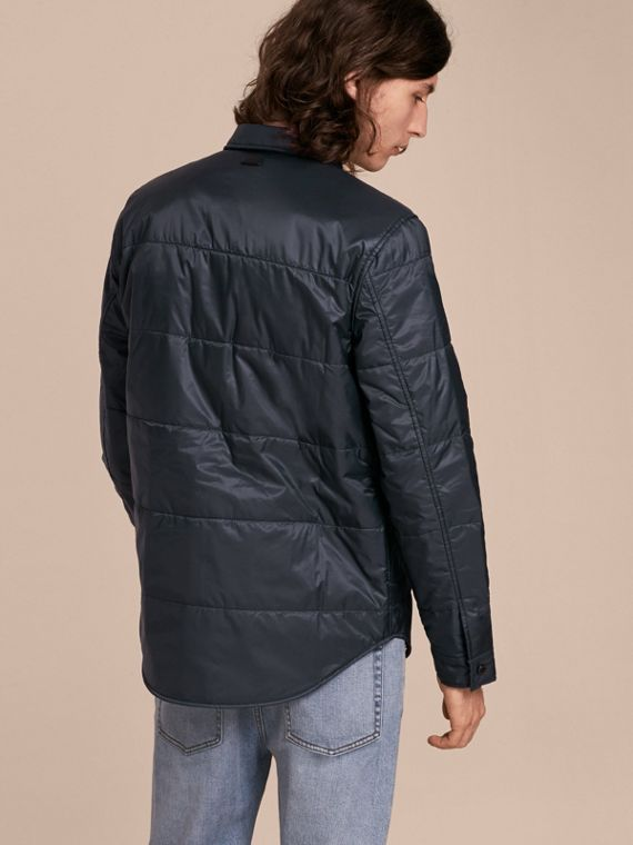 Navy Quilted Technical Shirt - cell image 2
