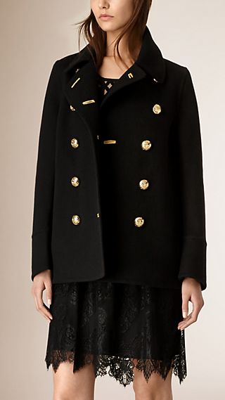 Regimental Detail Cashmere Coat