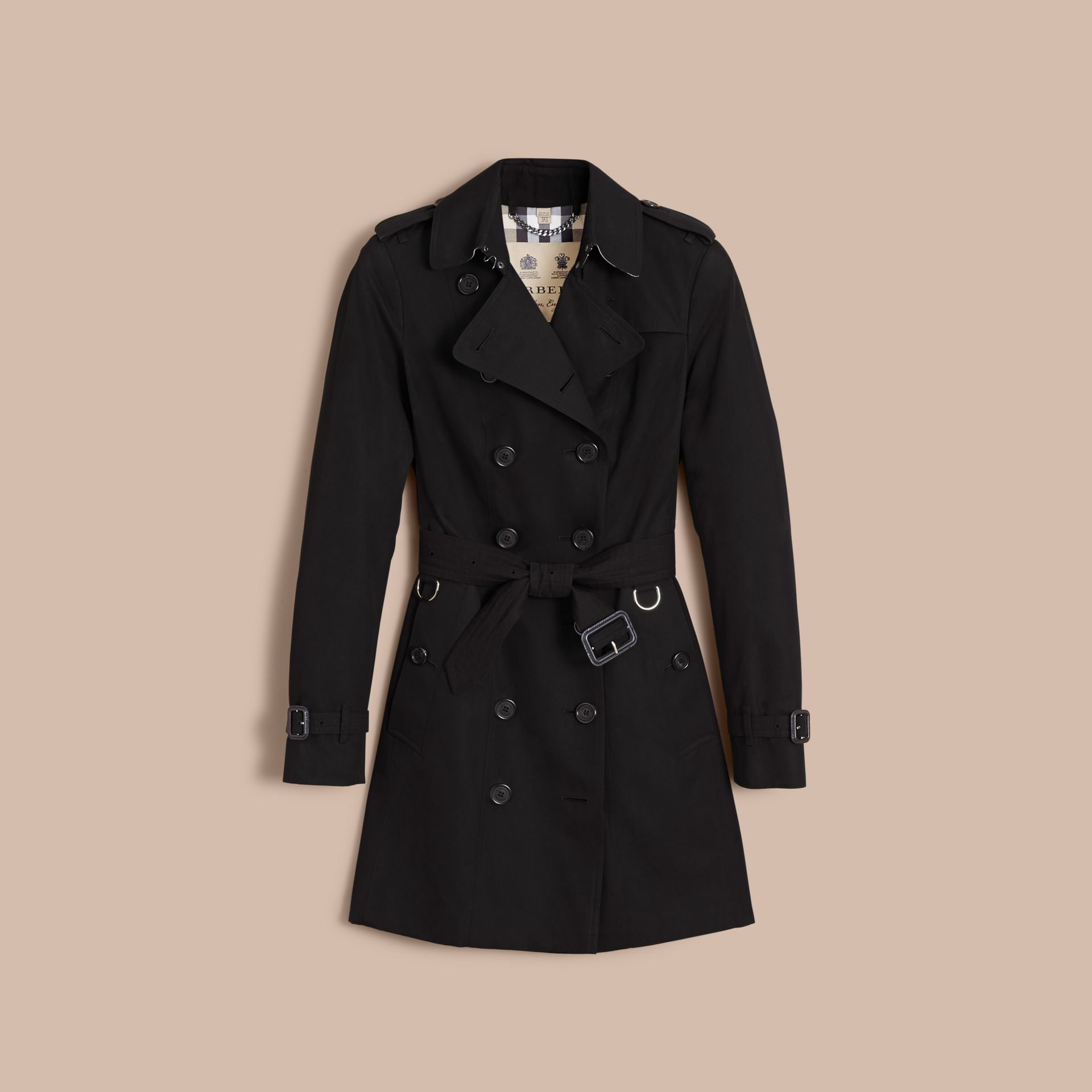 The Sandringham – Mid-Length Heritage Trench Coat in Black - Women | Burberry - gallery image 4