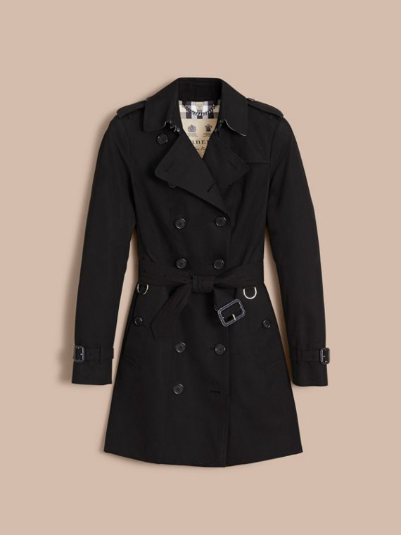 The Sandringham – Mid-Length Heritage Trench Coat in Black - cell image 3