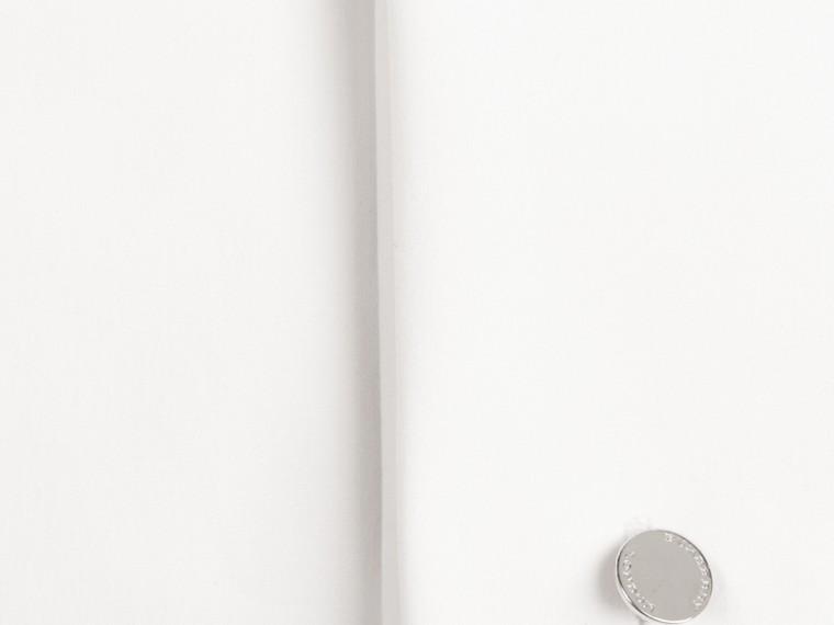 Blanco Camisa ajustada en popelina de algodón elástico con puños dobles - cell image 1