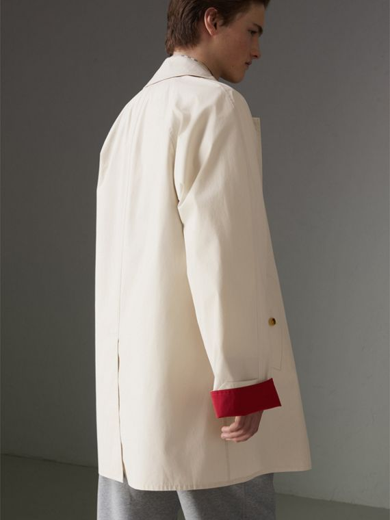 Reissued Waxed Cotton Gabardine Car Coat in Pale Stone - Men | Burberry - cell image 2