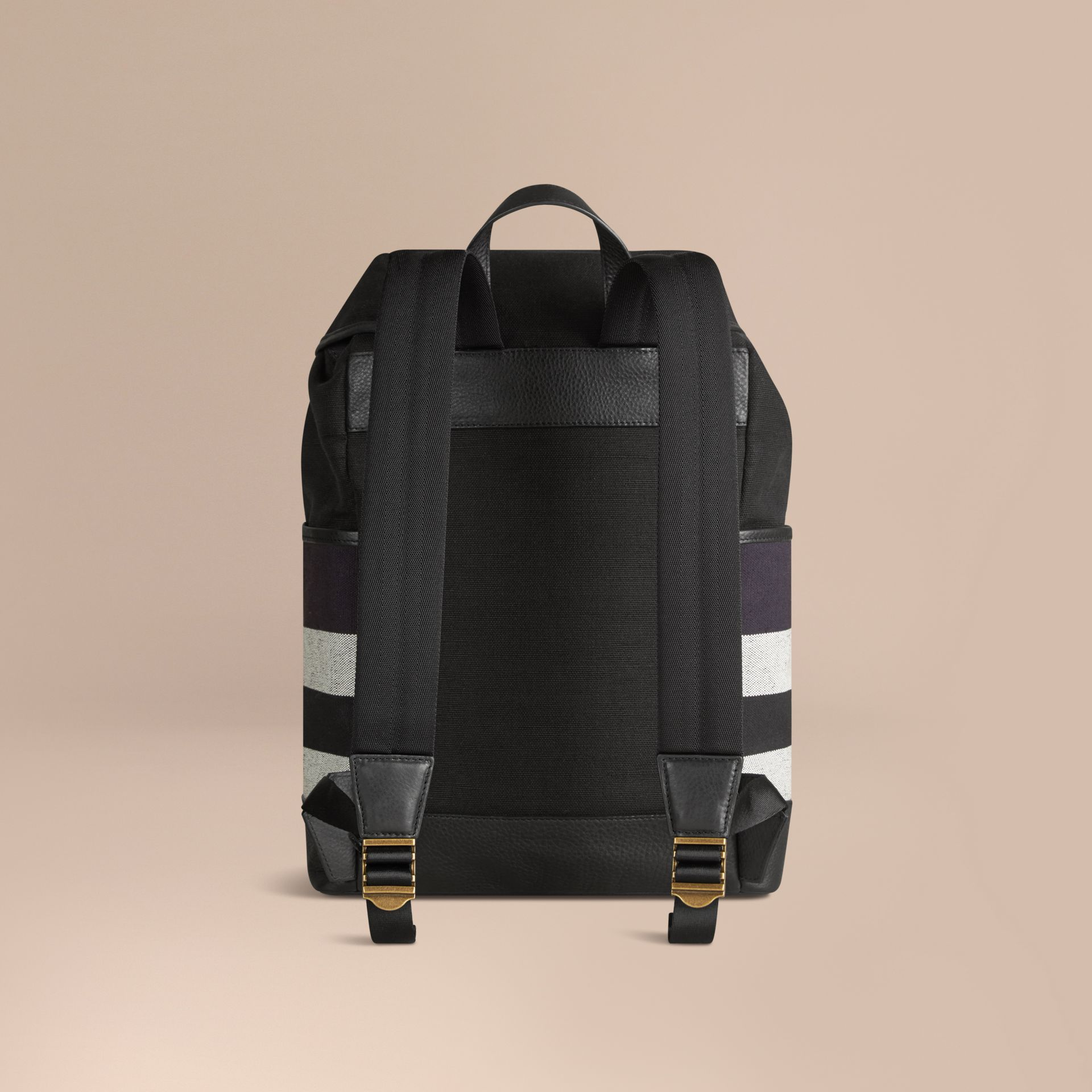 Navy Canvas Check Backpack Navy - gallery image 4
