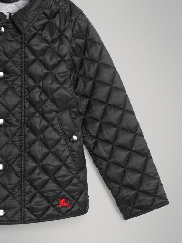 Lightweight Diamond Quilted Jacket in Black | Burberry - cell image 2