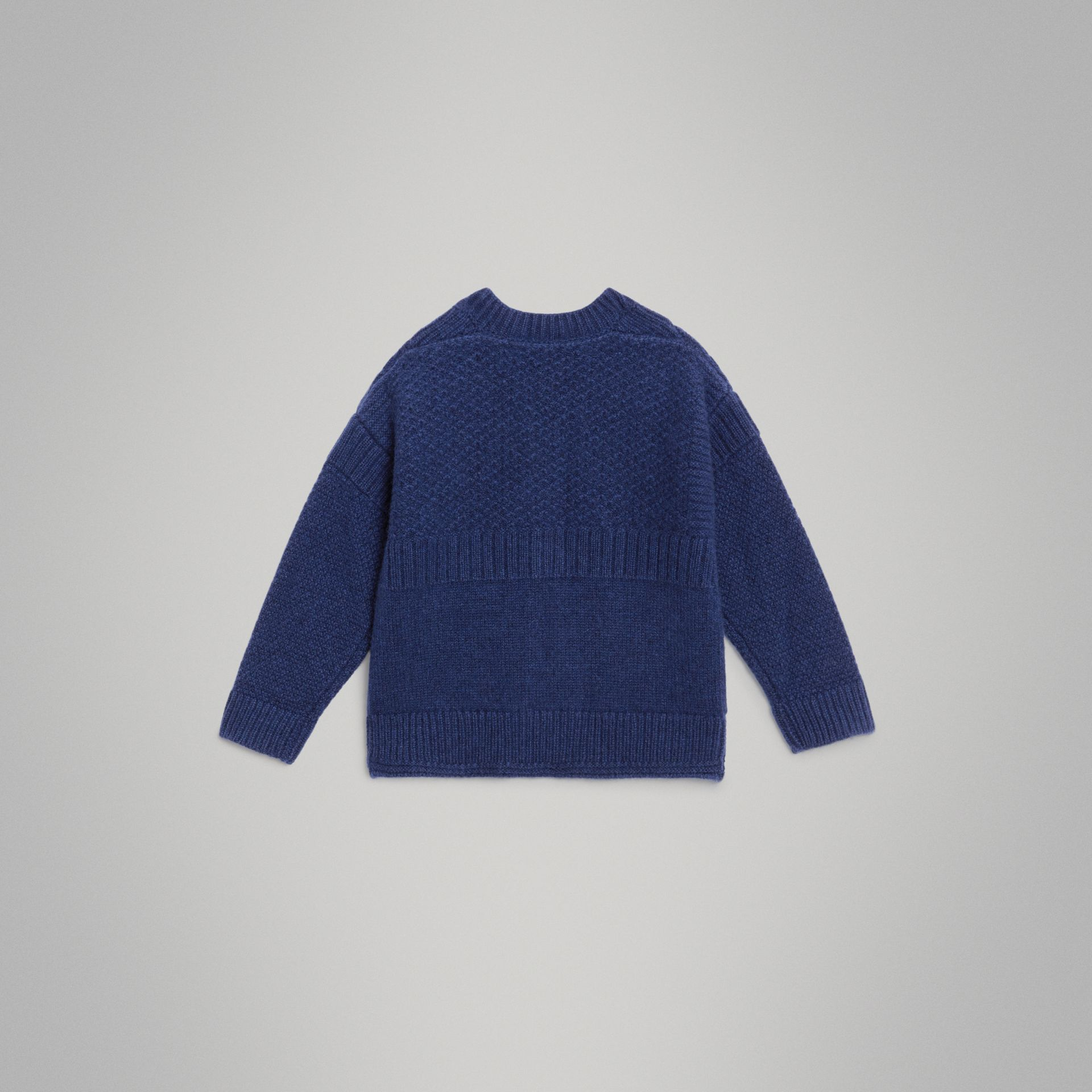 Cashmere and Cotton Three-piece Baby Gift Set in Bright Navy - Children | Burberry United Kingdom - gallery image 7