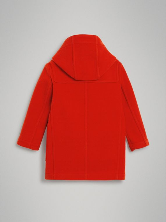 Duffle-coat en laine double face (Rouge Orangé) - Fille | Burberry Canada - cell image 3