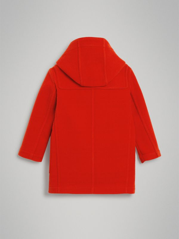 Double-faced Wool Duffle Coat in Orange Red | Burberry Australia - cell image 3